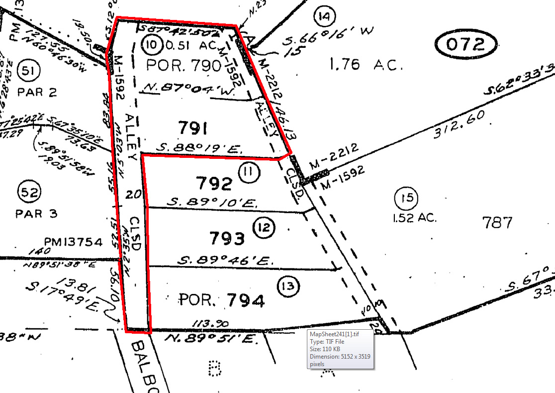 Del Mar Auction Balboa Lot SURE Real Estate - Property line survey map